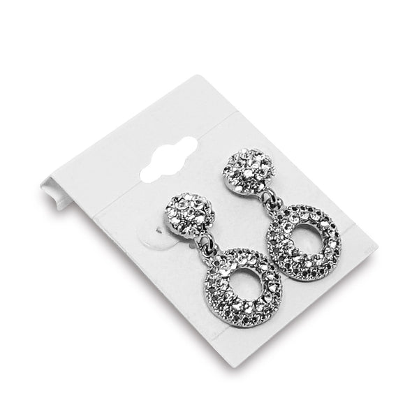 #BX561-1 Plain White Hanging Earring Cards