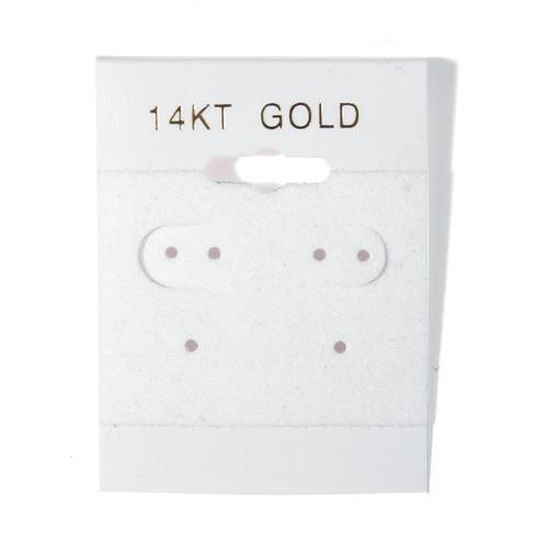 Hanging Earring Card with 14KT Gold-Nile Corp