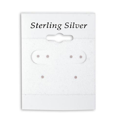 Hanging Earring Card with Sterling Silver-Nile Corp