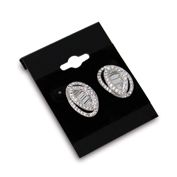 #BX561 Plain Black Hanging Earring Cards