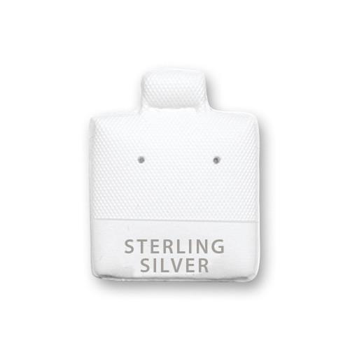 White Earring Puff Pad with Sterling Silver-Nile Corp