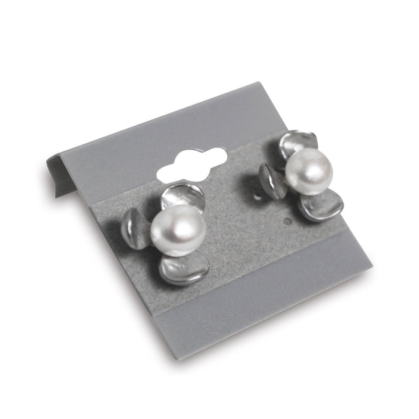 #BX570 Gray Flocked Plastic Earring Hanging Card