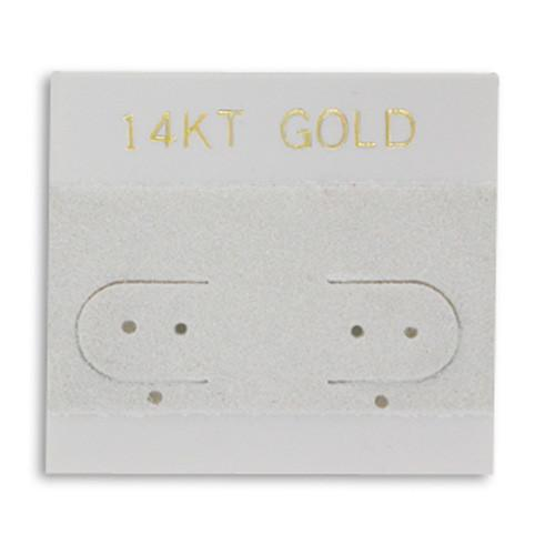 Earring Hanging Card with 14KT-Nile Corp