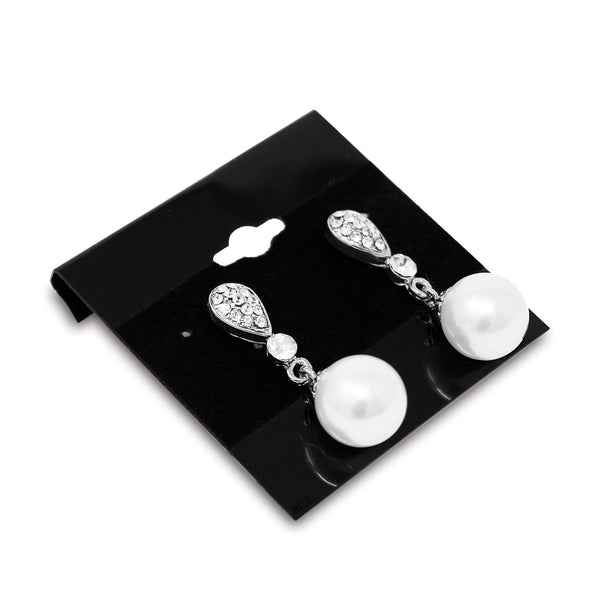 #BX573 Plain Black Hanging Earring Cards