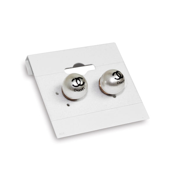 #BX578 Plain White Earring Hanging Cards