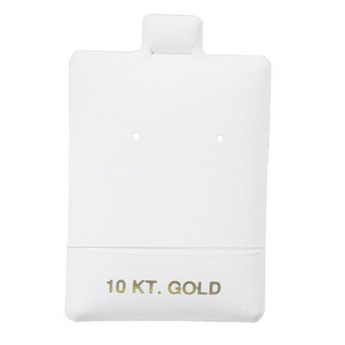 Earring puff Card with 10KT-Nile Corp