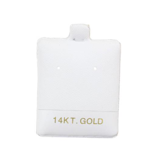 Earring Puff Card with 14KT-Nile Corp