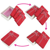 #BX8302-2RD Nesting Gift Boxes, Red Color with A Bowtie