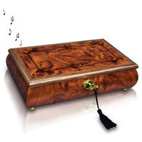 Wooden Locking Musical Jewelry Box with Glossy Finish | Nile Corp