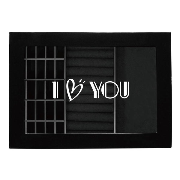 #BXJ96BKPR2 Personalized Accessories Storage Organizer with Text Engraving, Black