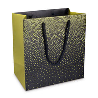 Metallic Gold Color Polka Dots Gift Tote Bags | Nile Corp