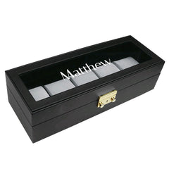 Personalized Watch Storage Case for Large Watches with Key Lock | Nile Corp