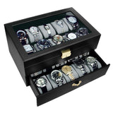 Wooden Watch Case with Lock for 20 Watches | Nile Corp