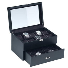 Watch Case with Lock for 20 watches-Nile Corp