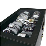 Personalized Premium Leatherette Watch Case w/lock, for 20 Watches with Soft Cushions | Nile Corp