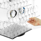 #CBW340 Revolving Acrylic Watch Display Case with Lock for 60 Watches