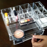 #COM0313 Luxury Acrylic Makeup Organizer with Drawer | Nile Corp