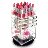 #COM062 Premium Acrylic Rotating Makeup and Lipstick Tower | Nile Corp