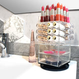 Premium Acrylic Rotating Makeup and Lipstick Tower | Nile Corp