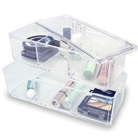 #COM172-1 Two Layer Acrylic Makeup Organizer Box | Nile Corp