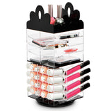 #COM6501 Princess Tiara Design Acrylic Rotating Makeup Organizer