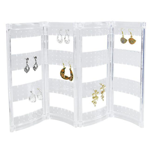 Foldable Acrylic Earring Screen for up to 216 pairs -Nile Corp