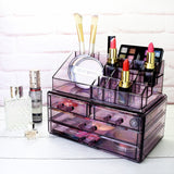 #COMS2915 Acrylic Makeup & Jewelry Organizer Two Pieces Set | Nile Corp