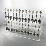 Premium Acrylic Souvenir Spoon Display Case Wall Mountable Organizer Storage Holder | Nile Corp
