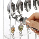 #COT1740 Premium Acrylic Souvenir Spoon Display Case Wall Mountable Organizer Storage Holder