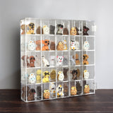 #COT1855 Mountable 25 Compartments Display Case w/ Mirrored Back - Display Shelves for Collectibles