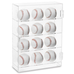 #COTB3012 Acrylic Mountable Baseballs Display Cabinet for 12 Baseballs