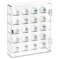 #COTG3020 Acrylic Mountable Golf Balls Display Case Cabinet for 20 Golf Balls