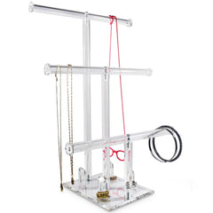 #DP616 3-Tier Acrylic Necklaces Bracelets Rings Stand Holder Jewelry Display | Nile Corp