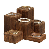 #DPW514-BR Wooden 6 Pcs Square Risers Display