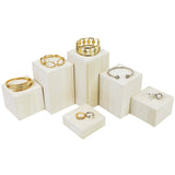 #DPW514-WH Wooden 6 Pcs Square Risers for Display Jewelry and Accessories Display Stand