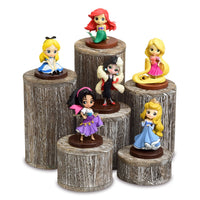 #DPW515-CF Wooden 6 Pcs Round Risers Display