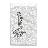 #EN124 Silver Tone Printed Paper Gift Bags | Nile Corp