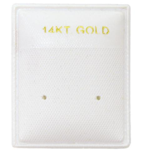 Earring Puff Pad with 14KT-Nile Corp