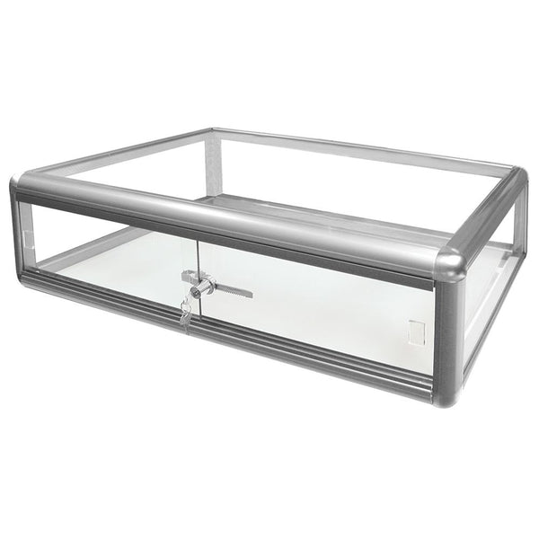#F-1303-S Aluminum Frame Counter Top Glass Display Case | Nile Corp