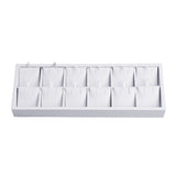 #F8-12 White Leatherette Earring Display Tray