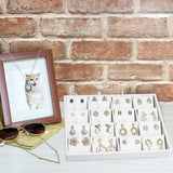 #F8-23 White Leatherette Pendant Display Tray