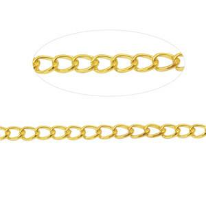 Brass Cable Link Chain, 7mm x 5mm | Nile Corp