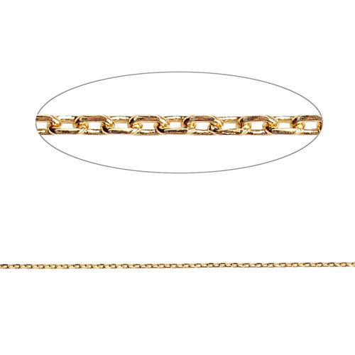Gold plated brass metal Rolo chains-Nile Corp