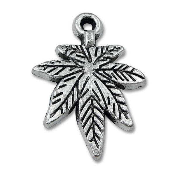 Pewter Maple-Leaf Charm-Nile Corp