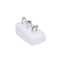 #GR-47 White Leatherette Vertical Ring Clip Display