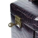 Luxury Leatherette Crocodile Patter Jewelry Box with Lock | Nile Corp