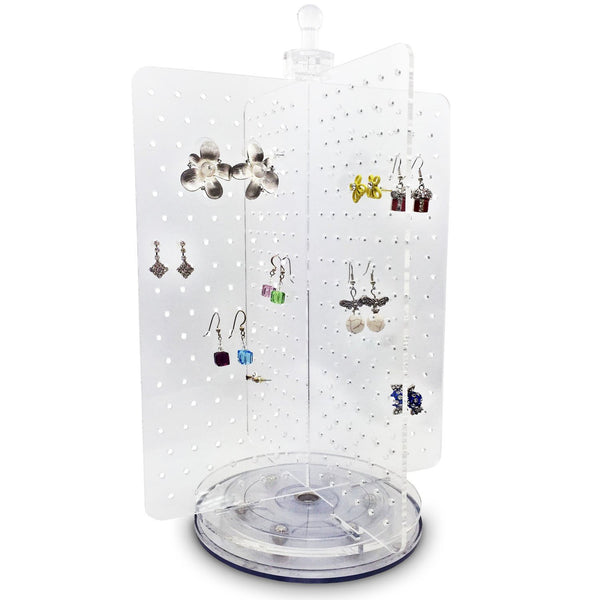 Acrylic Rotating 216 Pairs Earring Jewelry Display | Nile Corp