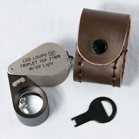 Premium LED and UV-Lighted Triplet Loupe-Nile Corp