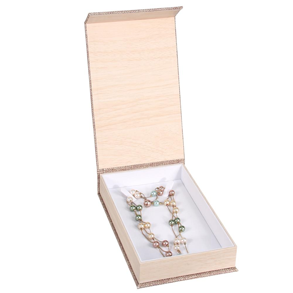Deluxe Burlap Necklace Box | Nile Corp