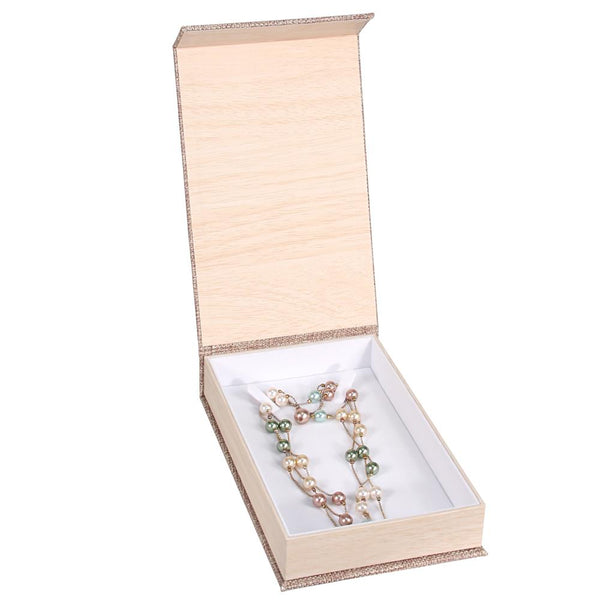 #PJ7V Deluxe Burlap Necklace Box | Nile Corp